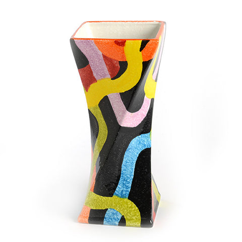 POP Nero Large Twisted Vase