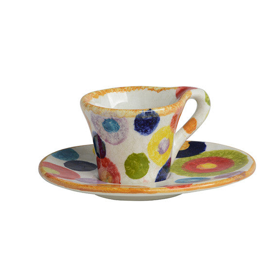 Circle Espresso Cup and Saucer