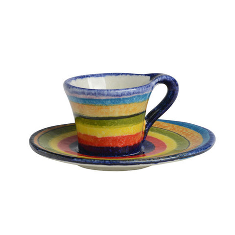 POP Lines Espresso Cup and Saucer