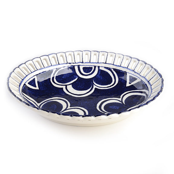 Portichetto Blu Oval Bowl