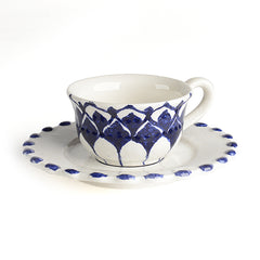 Portichetto Blu Espresso Cup and Saucer