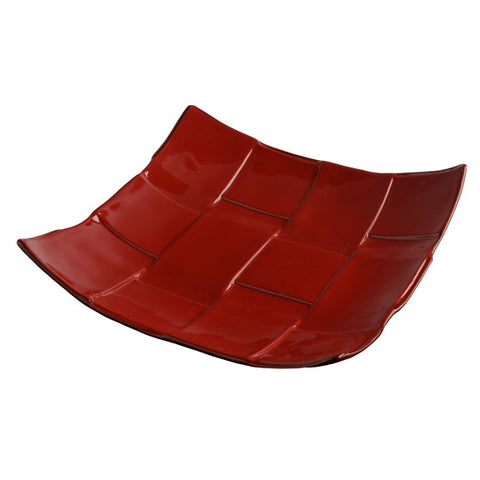 Rosso  Square Woven Platter