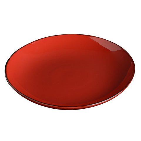 Rosso Round Shallow Serving Platter