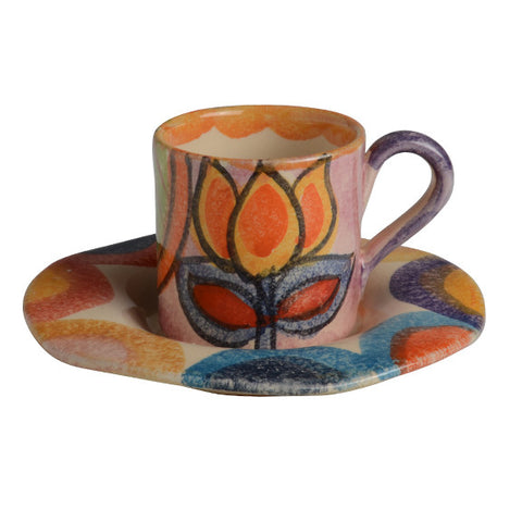 Roma Amor Espresso Cup and Saucer