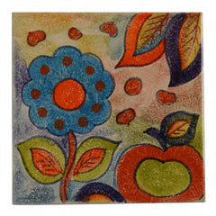 "Roma Amor 8"" by 8"" Flower Tile"