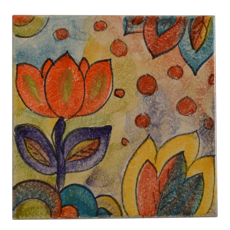 "Roma Amor 8"" by 8"" Tulip Tile"