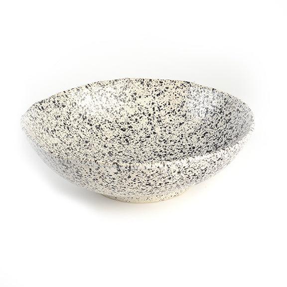 Roccia Large White Serving Bowl