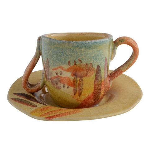 Sogno Toscano Decorated Espresso Cup and Saucer