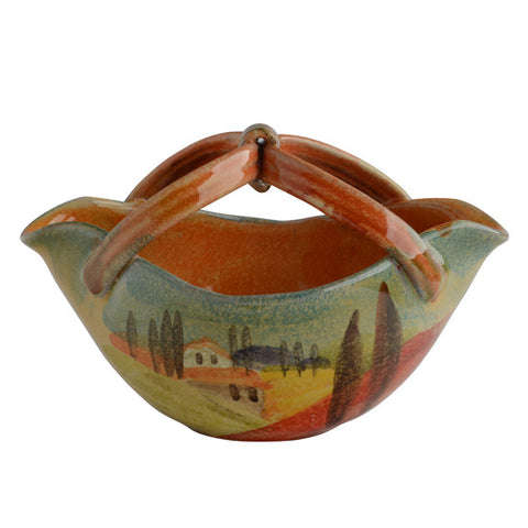 Sogno Toscano Small Basket Bowl with Handle