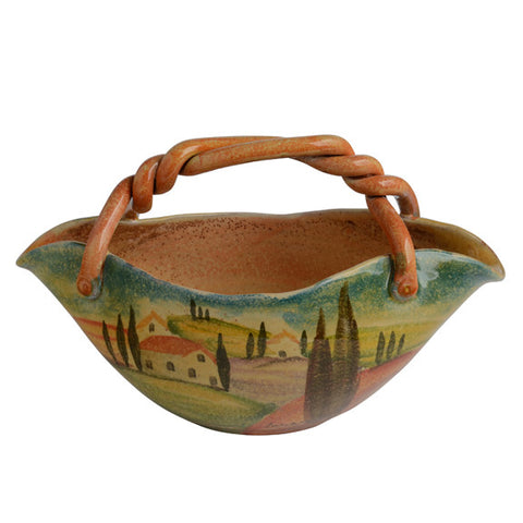 Sogno Toscano Medium Basket Bowl with Handle