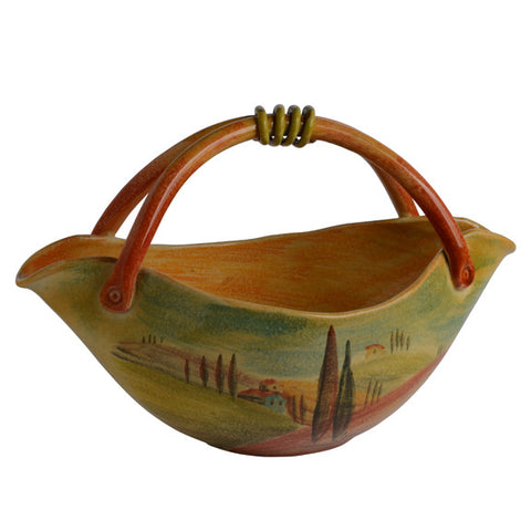 Sogno Toscano Large Basket Bowl with Handle
