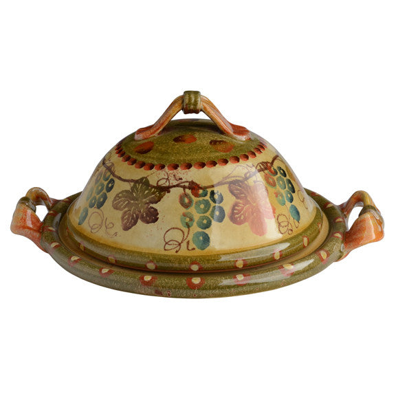 Large Covered Dish with Handles