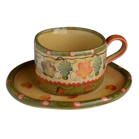 Terre Di Chianti Teacup and Saucer