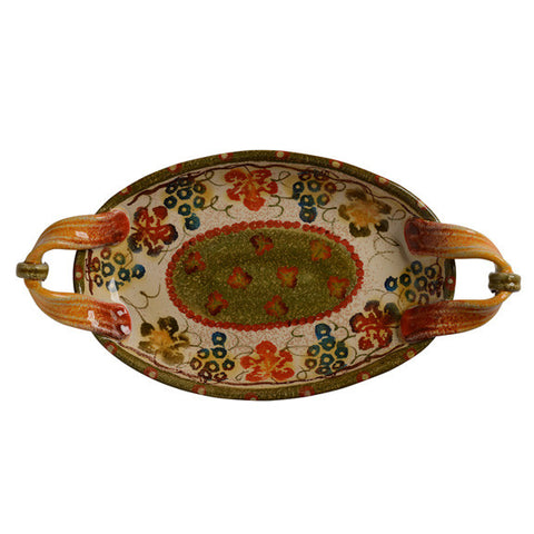 Terre Di Chianti Small Oval Plate with Handles