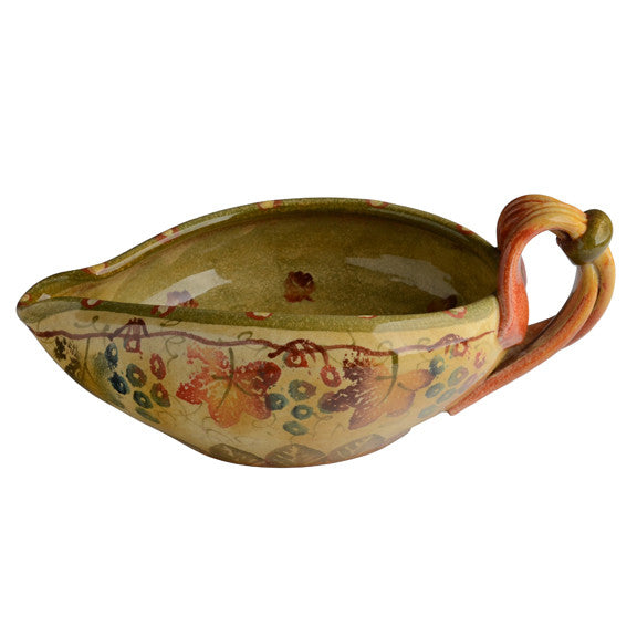 Oval Gravy Boat with Ribbon Handle