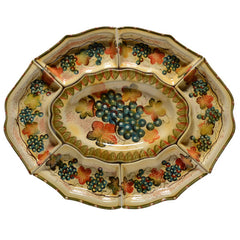 Oval Platter with Six  Small Serving Dishes