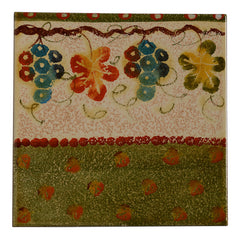 "Terre di Chianti 8"" by 8"" Tile with Grapes and Leaves"