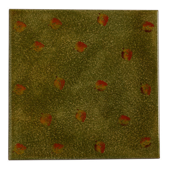 "Terre di Chianti 8"" by 8"" Tile with Leaves"