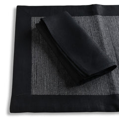 Biancheria Black Placements/Napkins - Set of 4