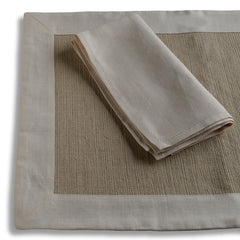 Biancheria Ivory Placemats/Napkins - Set of 4