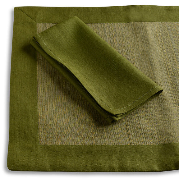 Biancheria Green Placemats/Napkins - Set of 4