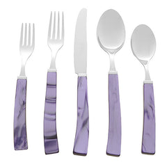 5 Piece Place Setting of Via Veneto in Purple