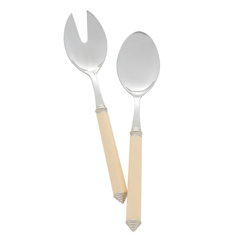 Condotti Salad Serving Set in Ivory