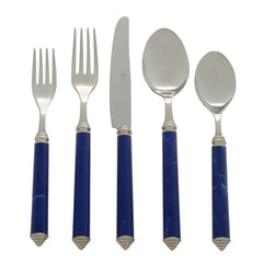 Blue Five Piece Place Setting