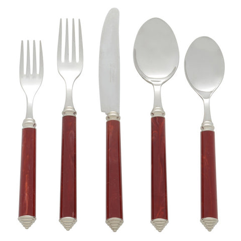5 Piece Place Setting of Condotti in Bordeaux