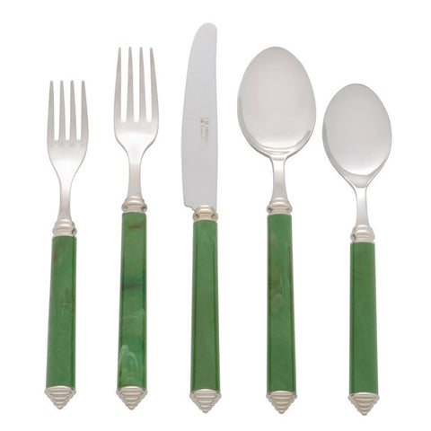 5 Piece Place Setting of Condotti in Light Green