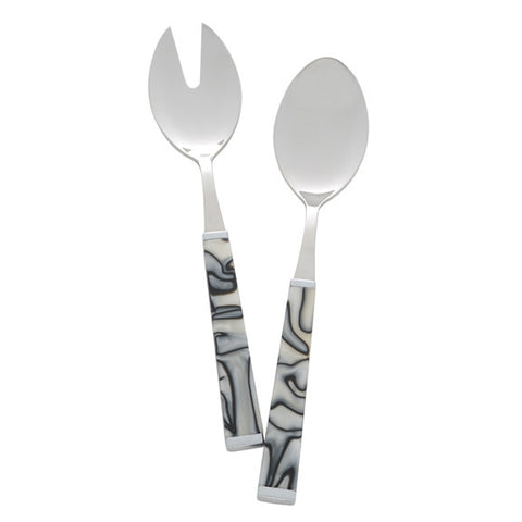 Colonna Salad Serving Set in Zebra