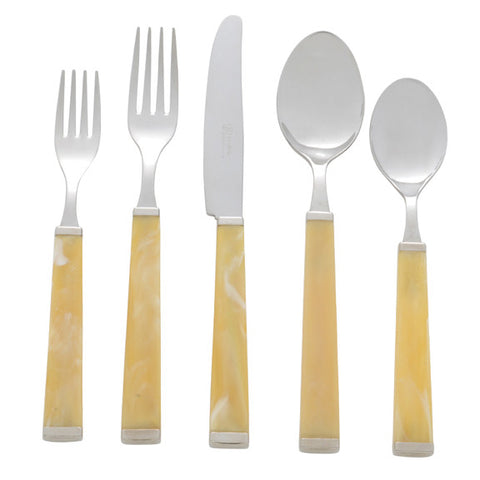 5 Piece Place Setting of Colonna in Horn