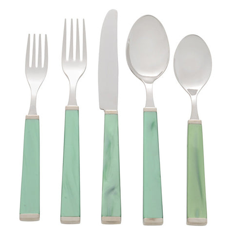 5 Piece Place Setting of Colonna in Green