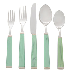 Green Five Piece Place Setting