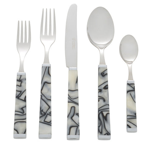 5 Piece Place Setting of Colonna in Zebra