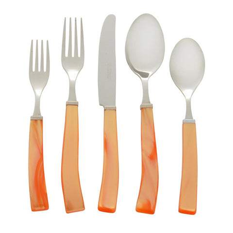 5 Piece Place Setting of Via Veneto in Orange