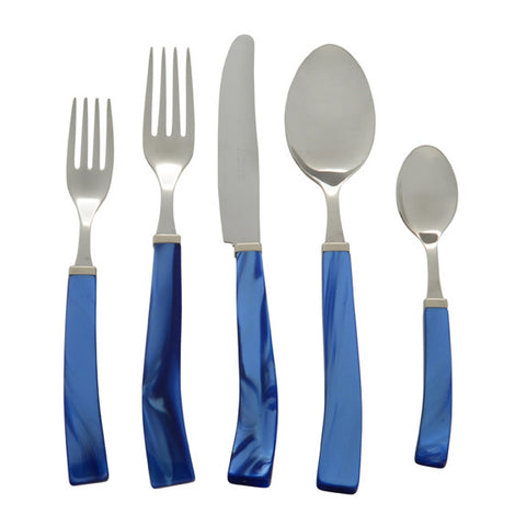 5 Piece Place Setting of Via Veneto in Blue
