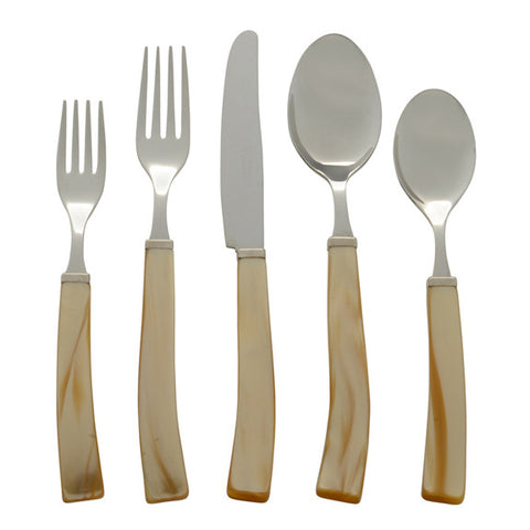 5 Piece Place Setting of Via Veneto in Honey