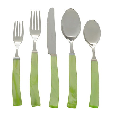 5 Piece Place Setting of Via Veneto in Green