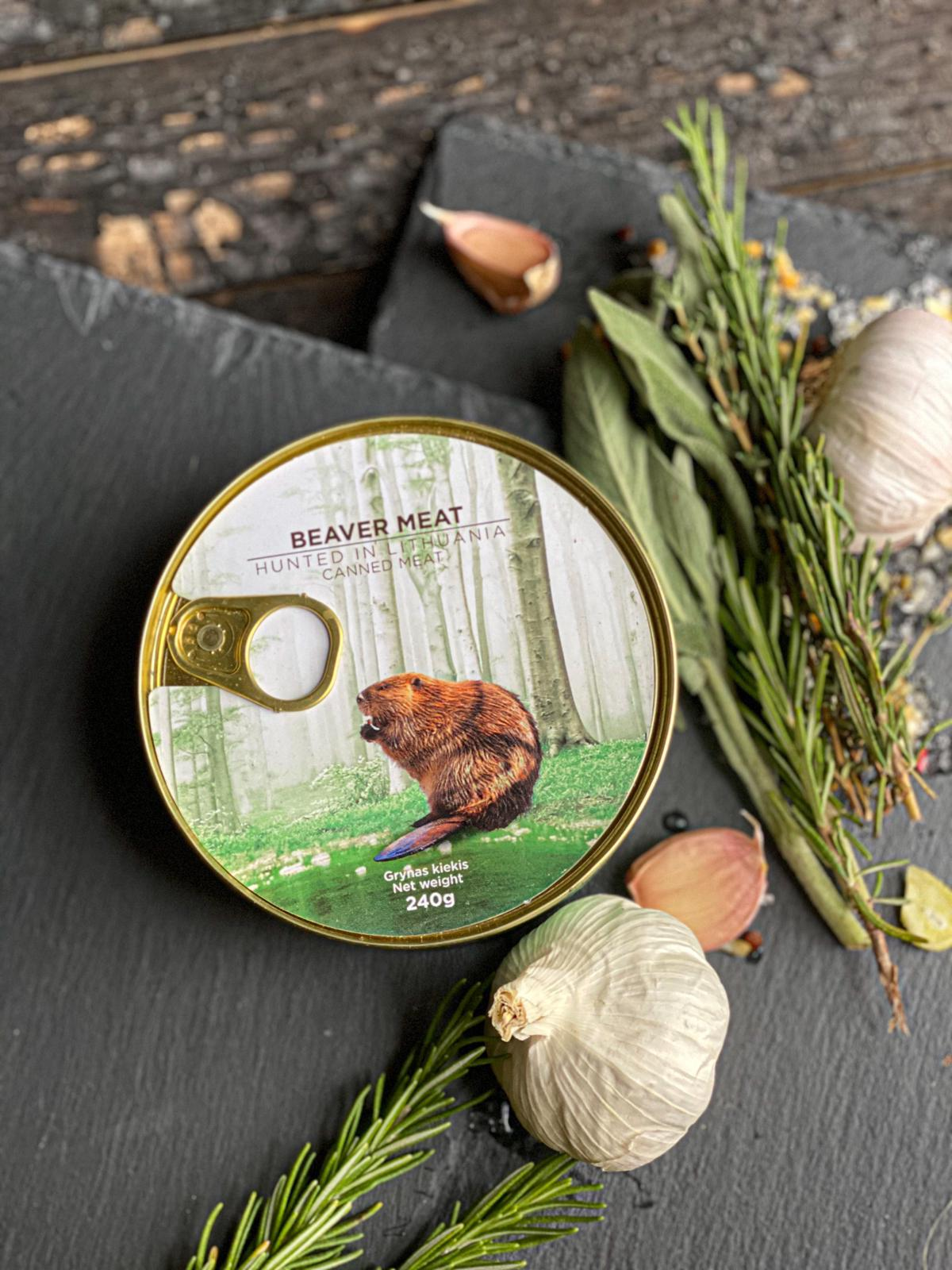 Canned Beaver meat - Wild Game Meat