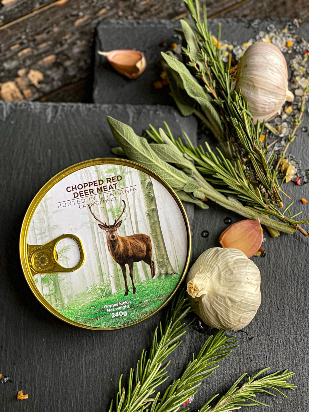 Canned Red Deer Meat - Wild Game Meat