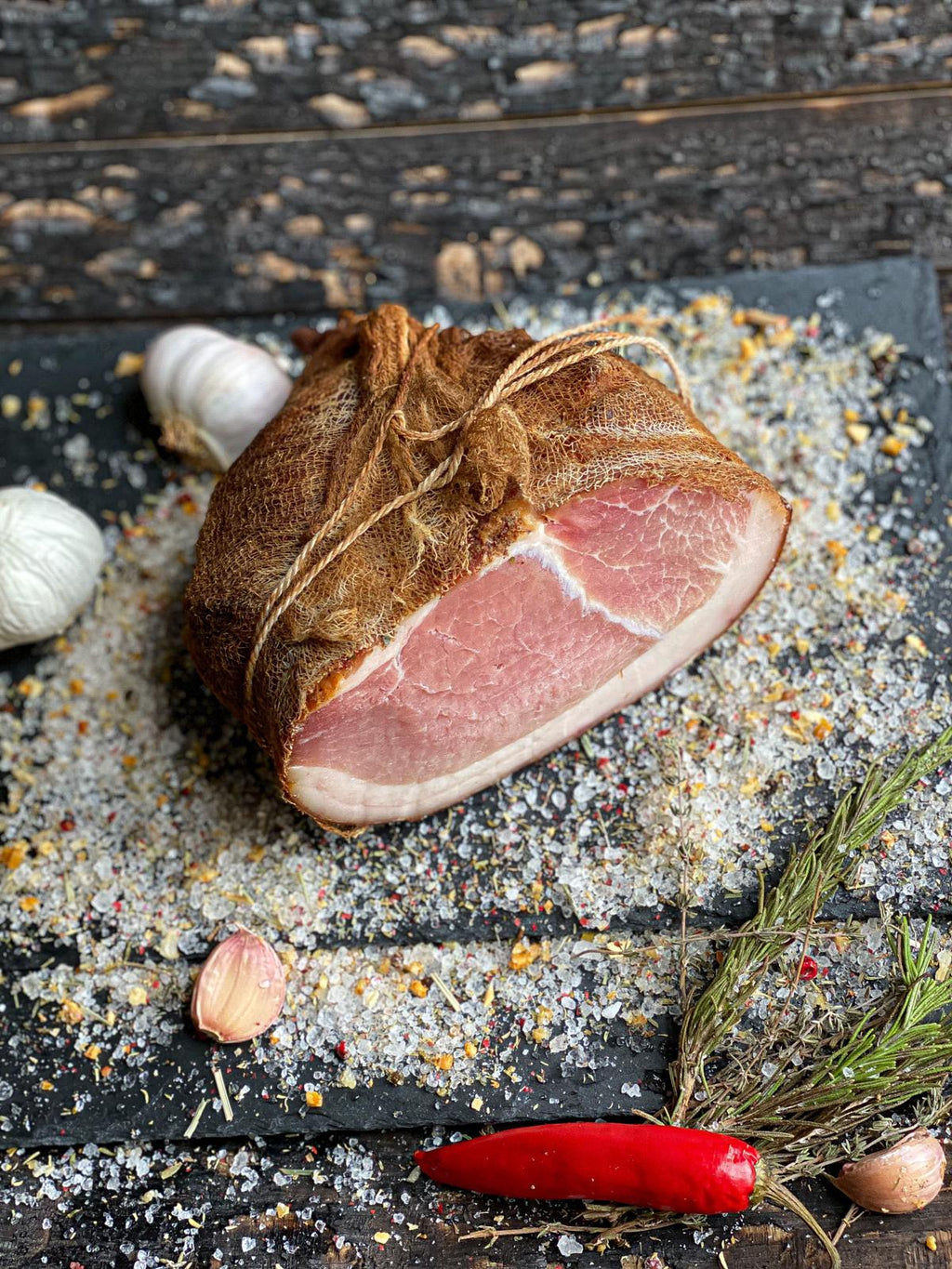 Petro Pork Ham with Fat 1kg - Wild Game Meat