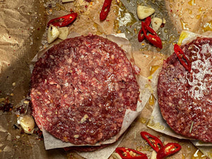 Venison Burgers. 4 per pack - 680g. - Wild Game Meat