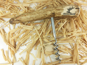 Antler Corkscrew, Wine Bottle Opener - Wild Game Meat