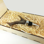 Bottle Stopper - Roe Deer Antler - Wild Game Meat
