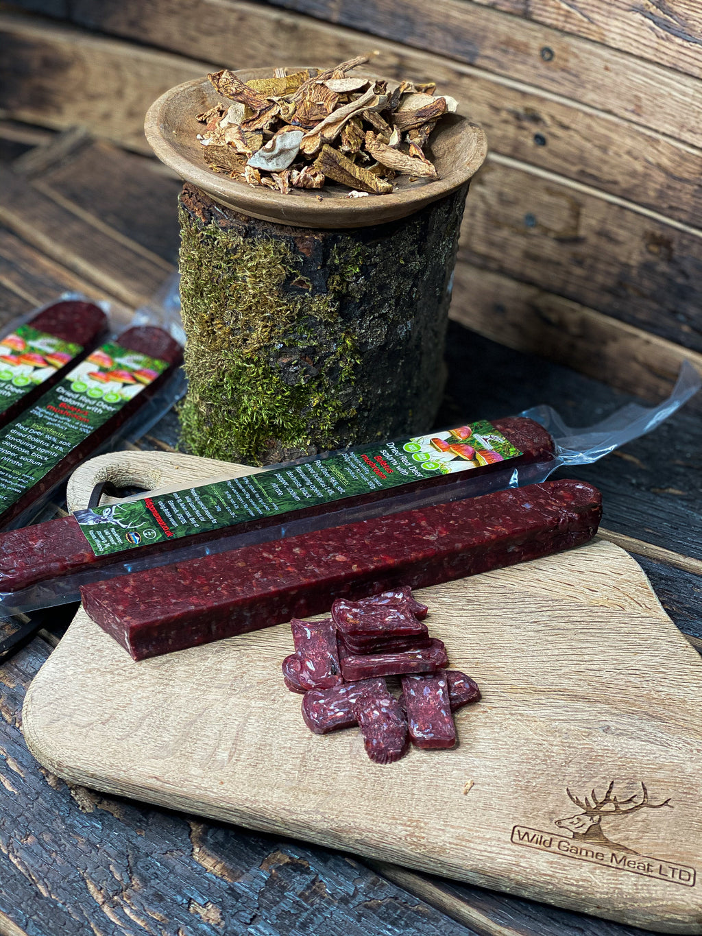 NEW! Dried Red Deer salami with Boletus mushroom