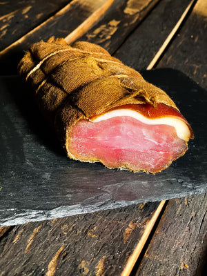 Pork ham with rind