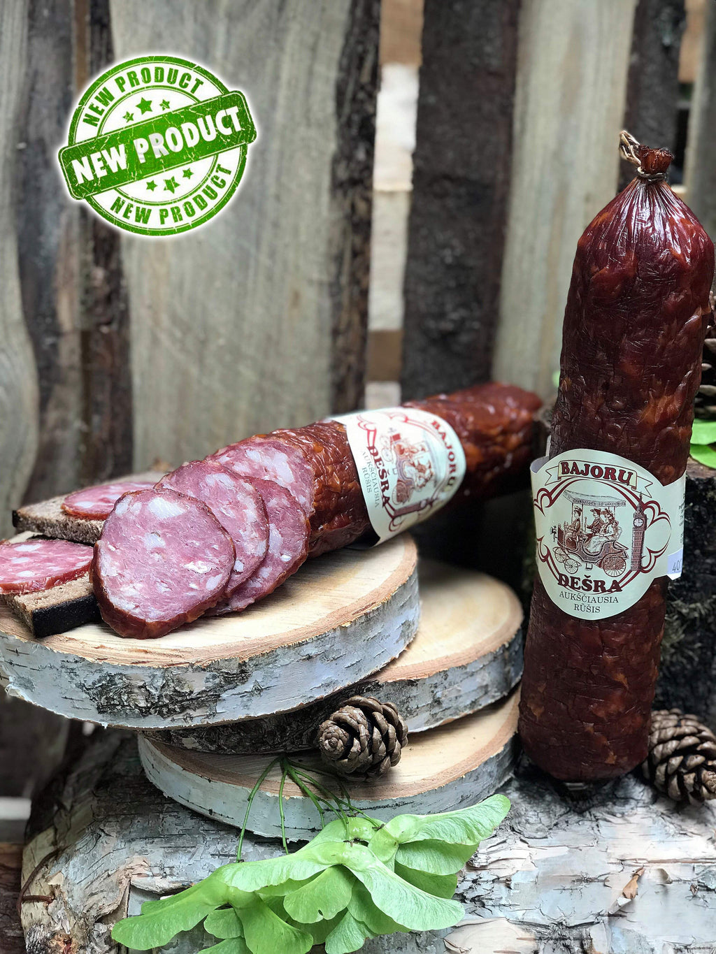 Bajoru cold smoked salami ~ 630g - Wild Game Meat