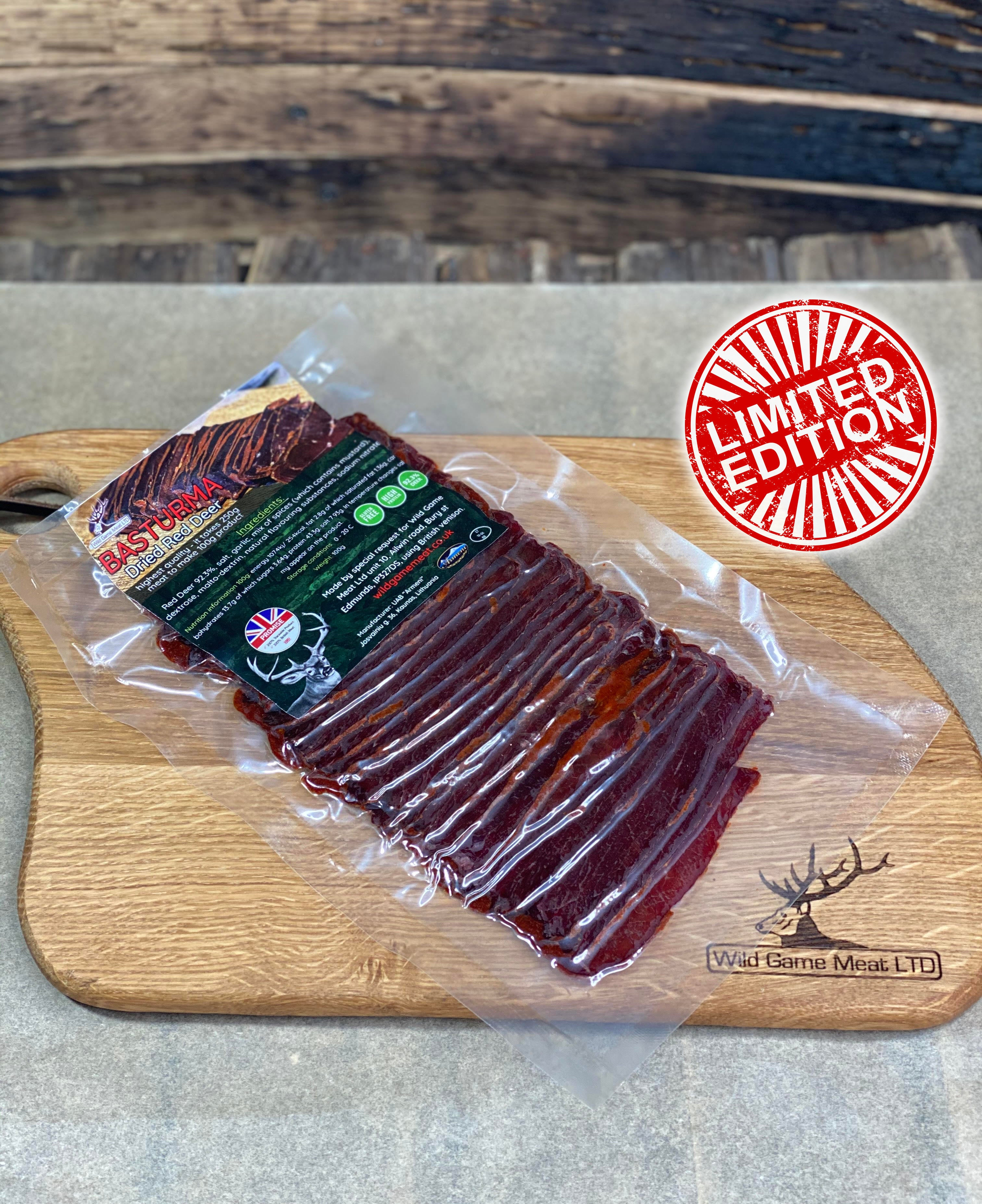 NEW! Dried Red Deer BASTURMA - Wild Game Meat
