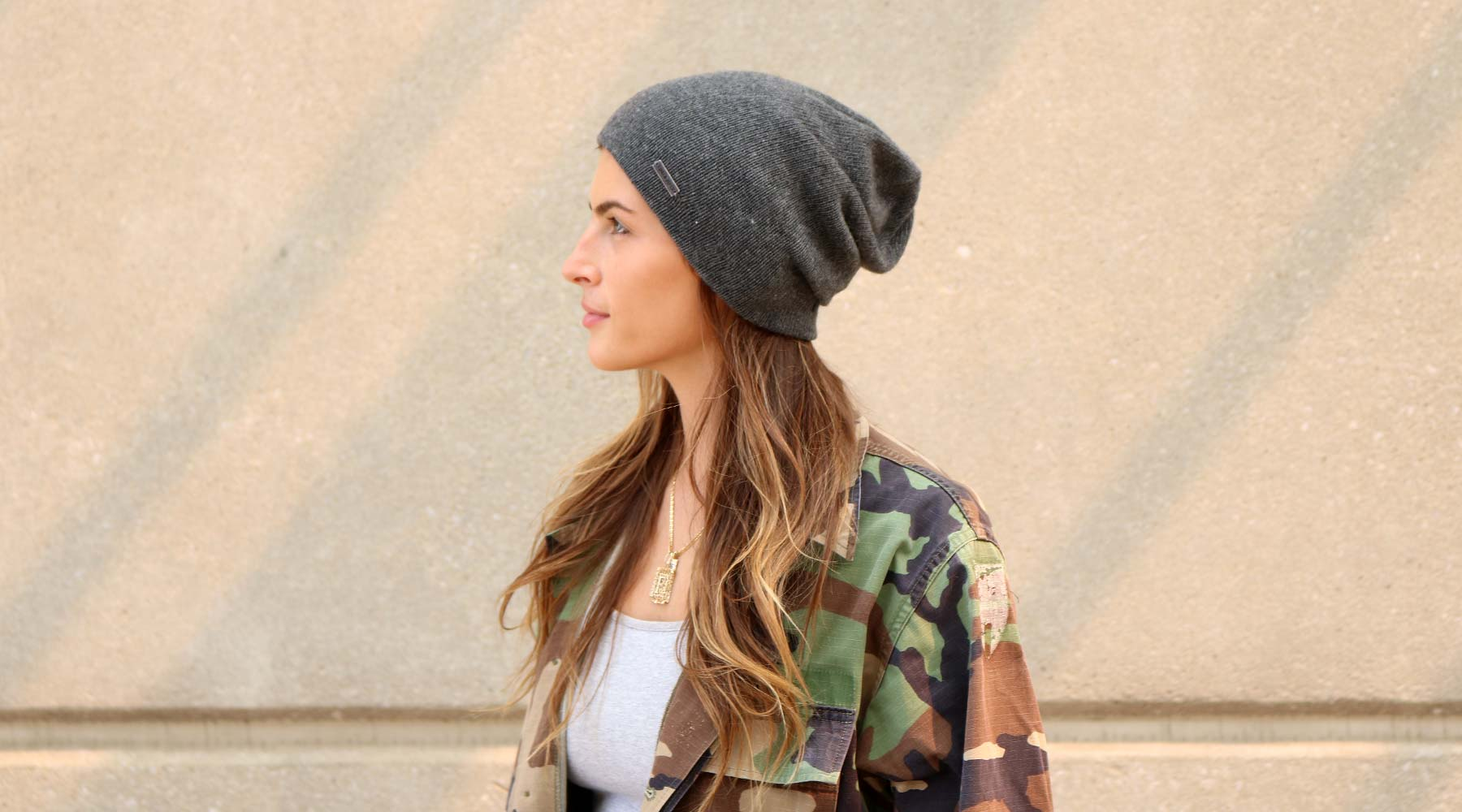Womens Blended Cashmere Beanie - The Murphy